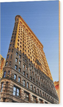 Flatiron Building Profile Too Wood Print by Randy Aveille