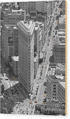 Flatiron Building Wood Print by Randi Grace Nilsberg