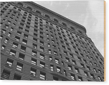 Wood Print featuring the photograph Flatiron Building by Steven Macanka