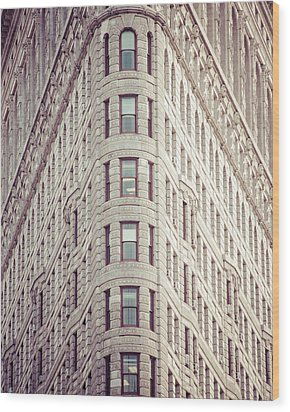 Wood Print featuring the photograph Flatiron Building by Takeshi Okada