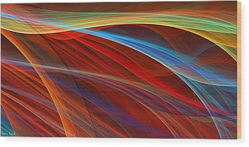 Flaunting Colors Wood Print by Lourry Legarde