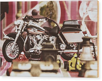 Flea Market Series - Motorcycle Wood Print by Marco Oliveira