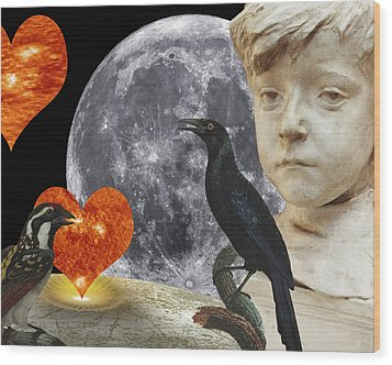 Fleeting Love  C2014 Paul Ashby Wood Print by Paul Ashby