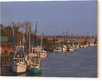 Wood Print featuring the photograph Fleet's In by Laura Ragland