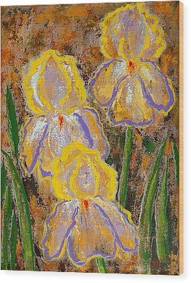 Fleur D' Iris Wood Print by Margaret Bobb