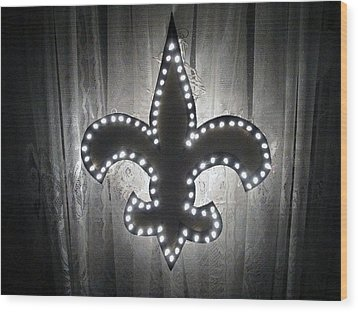 Fleur De Light Wood Print by Deborah Lacoste