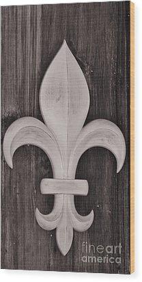 Fleur-de-lis Wood Print by Janice Spivey