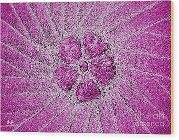 Wood Print featuring the photograph Fleur Fuchsia by Geri Glavis