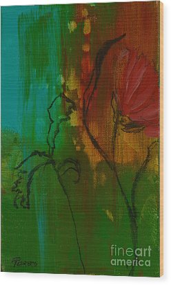 Fleur Wood Print by Robin Maria Pedrero