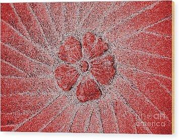 Wood Print featuring the photograph Fleur Scarlet by Geri Glavis