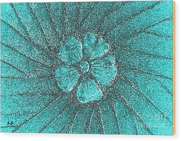 Wood Print featuring the photograph Fleur Teal by Geri Glavis