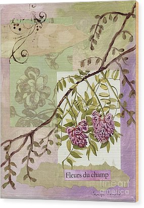 Fleurs Du Champ Wood Print by Tamyra Crossley