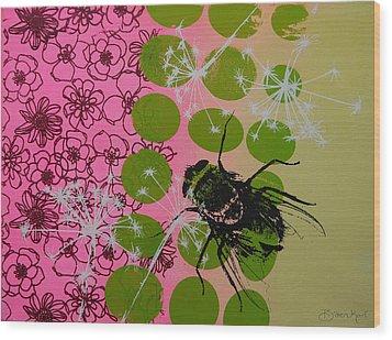 Flies Wood Print by Bitten Kari