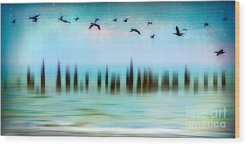 Flight - A Tranquil Moments Landscape Wood Print by Dan Carmichael