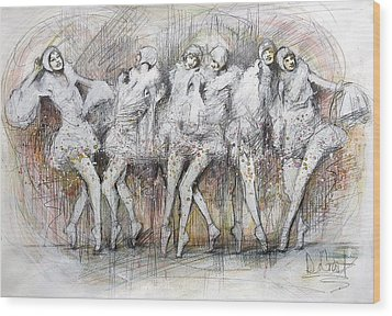 Flight Dancers Wood Print by Gregory DeGroat