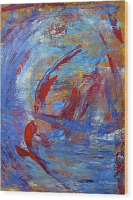 Flight Wood Print by Dick Bourgault