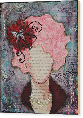 Flight Of Fancy By Janelle Nichol Wood Print by Janelle Nichol