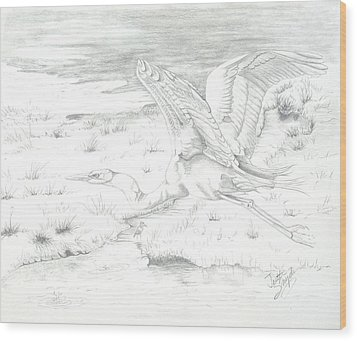 Flight Of Grace Wood Print