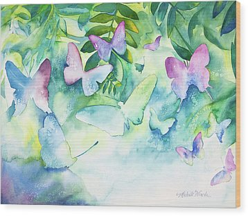 Flight Of The Butterflies Wood Print by Michelle Wiarda-Constantine