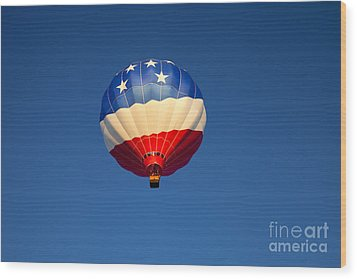 Flight Of The Patriot Wood Print by Mike  Dawson
