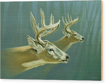 Flight Wood Print by Paul Krapf