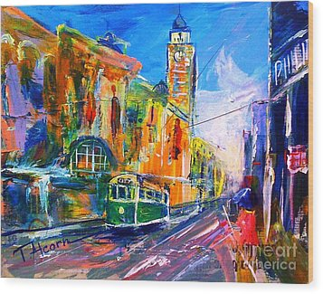 Flinders Street - Original Sold Wood Print