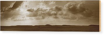 Flint Hills Panorama Wood Print by Thomas Bomstad