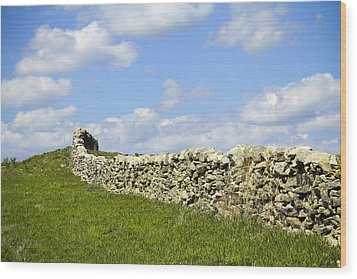 Wood Print featuring the photograph Flint Hills Rock Fence by Steven Bateson