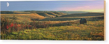 Wood Print featuring the photograph Flint Hills Shadow Dance by Rod Seel