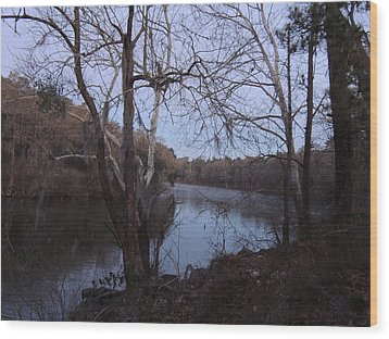 Wood Print featuring the photograph Flint River 4 by Kim Pate