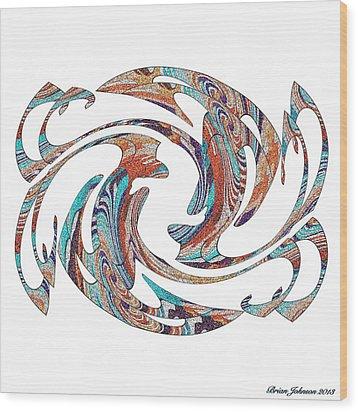 Flippin Fancy 1 Wood Print