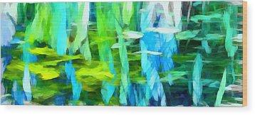 Float 4 Horizontal Wood Print by Angelina Vick
