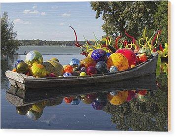Float Boat Wood Print