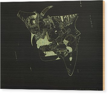 Float With The Current Wood Print by Guillermo De Llera