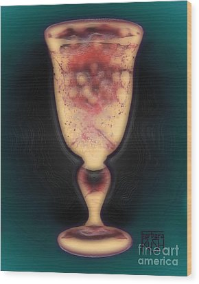 Floating Beverage Glass Wood Print