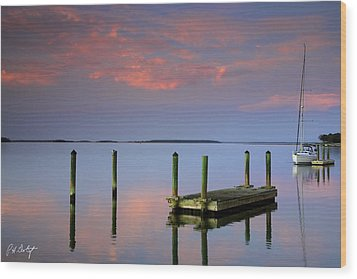Floating Docks Wood Print by Phill Doherty