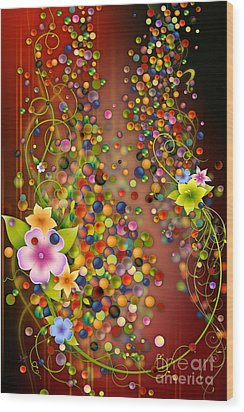 Floating Fragrances - Red Version Wood Print by Bedros Awak