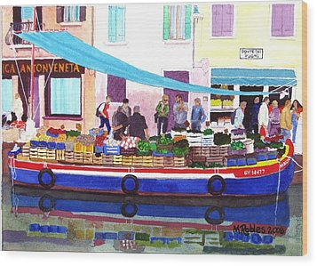Floating Grocery Store Wood Print by Mike Robles