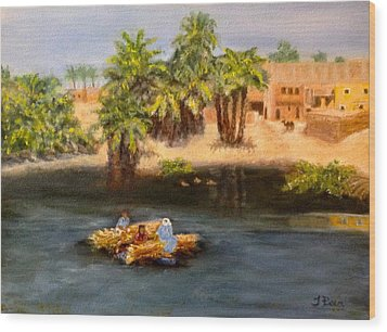 Floating On The Nile Wood Print