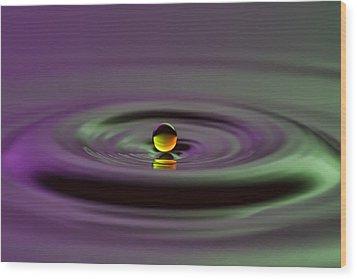 Floating On Water Wood Print