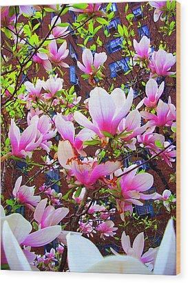 'floating Petals' Wood Print