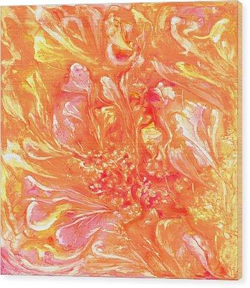 Floating Petals Wood Print by Rosie Brown
