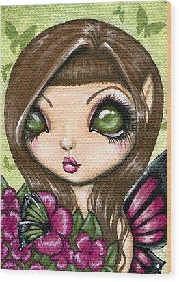 Floewer Fairy Fleur Wood Print by Elaina  Wagner