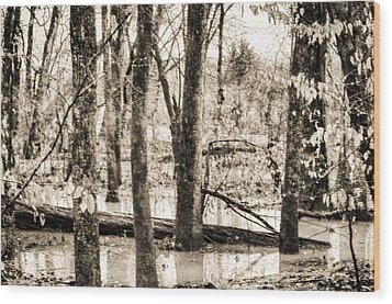 Flood Water Wood Print by J Riley Johnson