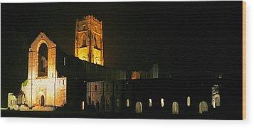 Floodlit Fountains Abbey Wood Print