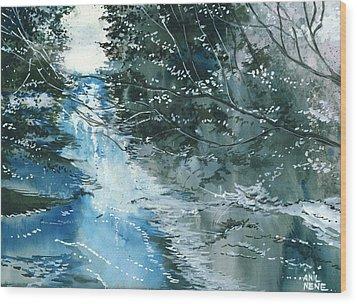 Floods 3 Wood Print by Anil Nene