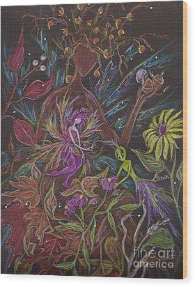 Flora Wood Print by Dawn Fairies