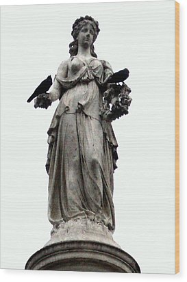 Wood Print featuring the photograph Raven's Friend by Salman Ravish