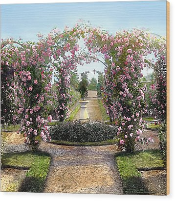 Floral Arch Wood Print
