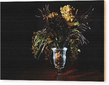 Wood Print featuring the photograph Floral Arrangement by David Andersen